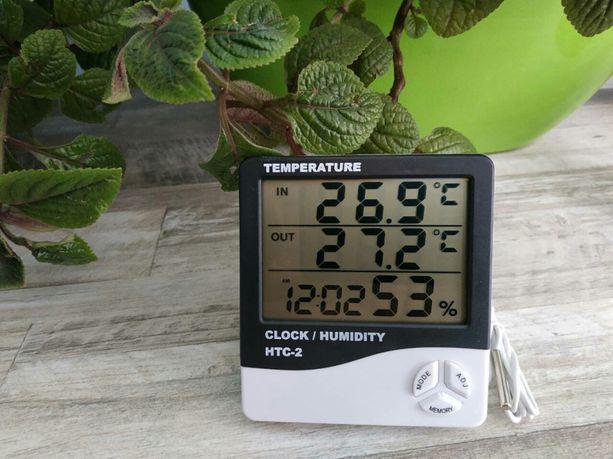 Термометр гигрометр часы HTC-2 метеостанция портативный прибор