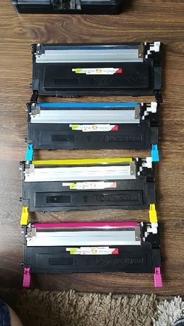 Komplet uzywanych tonerów do samsung CLX-3185 CLX-3180