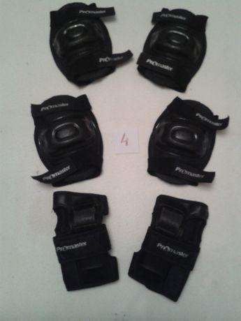 CONJ.nr.4-6 protecções p bicicleta,skate,hoquei,patins, E Presente