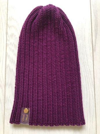 Зимняя шапка мериносовая шерсть 100% Меринос шапка тыковка