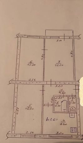 Продам 3-х комнатную квартиру с индивидуальным отоплением