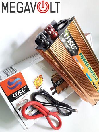 Преобразователь напряжения 24v 220v 1500W автоинвертор инвектор