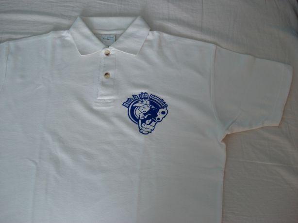 Koszulka polo unikat biała rozmiar M - Hasta la vista comunista