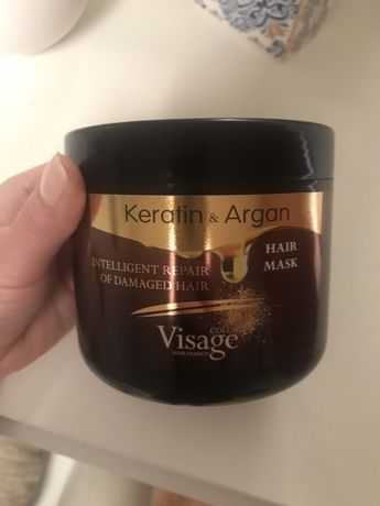 Маска для волос с кератином и аргановым маслом visage