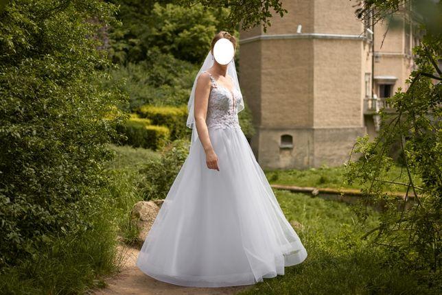 Biała suknia ślubna 36/38, kupiona w 2020