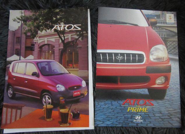 Prospekt folder broszura motoryzacyjne Hyundai Atos