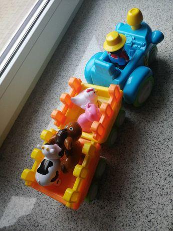 Interaktywny traktor ze zwierzątkami