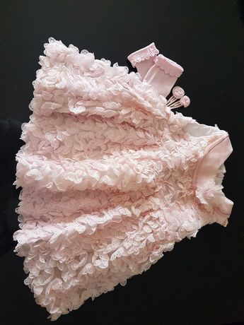 Vestido e acessorios _ bebe 6meses