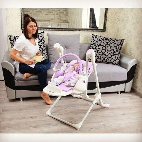 Детский стульчик для кормления, качели, шезлонг 3в1 Carrello Triumph