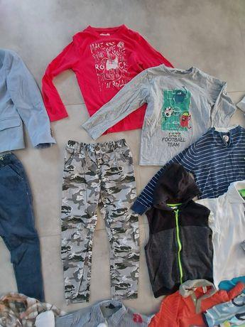 Zestaw ubrań, paka, chłopiec, r.122, r128, 35szt., h&m, jak nowe