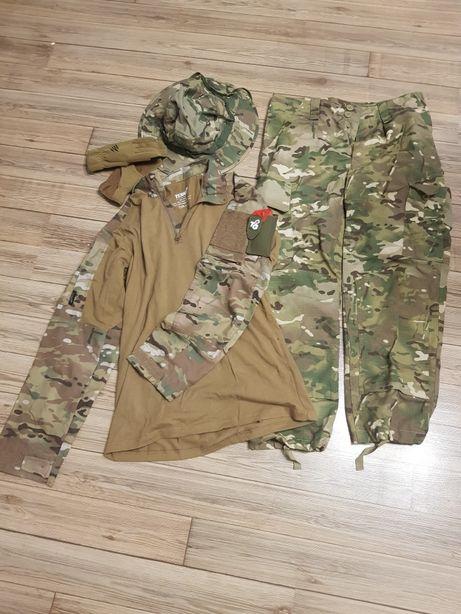 Strój do ASG (spodnie, bluzka, rękawiczki, kapelusz, okulary, maska)