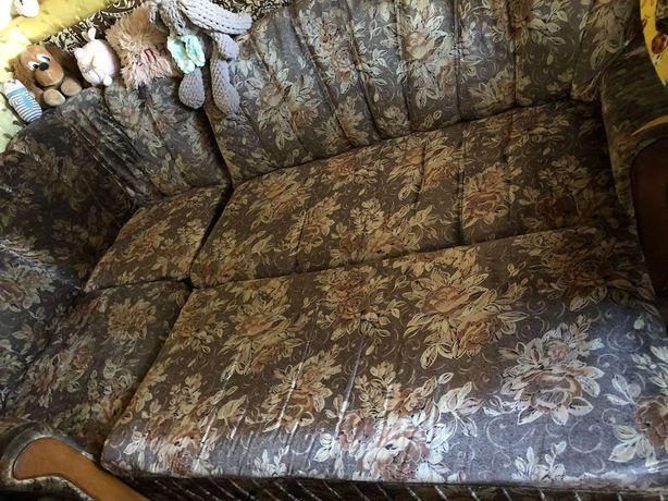 Угловой диван с креслом, б/у