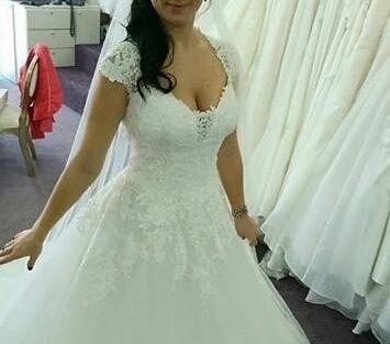 suknia ślubna wiązana z koronką 36, 38, 40, 42, 44, 46