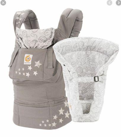 ErgoBaby Galaxy Grey+ вставка - стульчик для новорожденных ОРИГИНАЛ!
