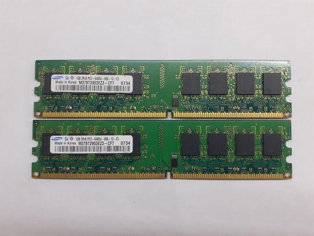 1Gb x 2 шт, Оперативная память Samsung DDR2 1Gb PC2-6400, за 2 шт