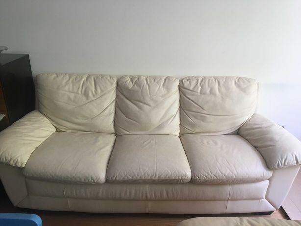 2 sofás em pele da Divani&Divani