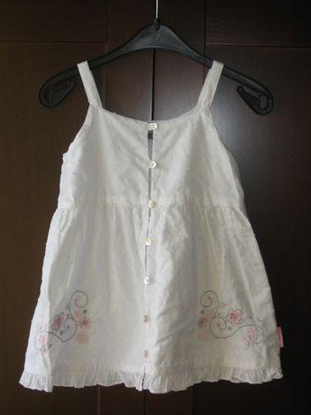 Śliczna sukienka Coccodrillo biała r. 86 JAK NOWA