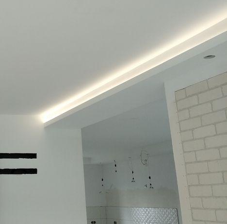 Sufity podwieszane, ścianki działowe z płyt g-k, sufity akustyczne