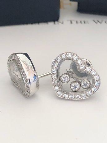 Серьги пусеты Chopard Happy Diamond Icons