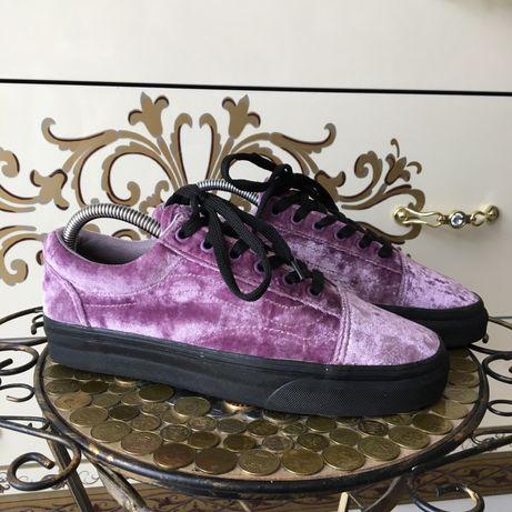 Фиолетовые велюровые кроссовки кроссы кеды vans old skool оригинал 38