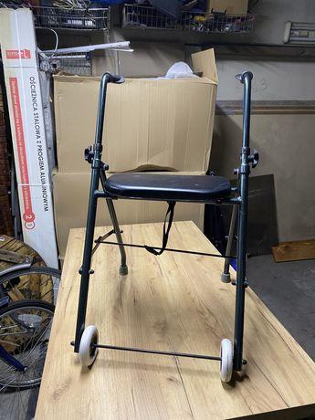 Podpórka dwukołowa z siedziskiem/ chodzik dla seniora