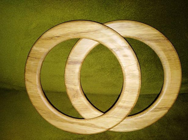 Drewniane (dębowe) ucha rączki uchwyty do toreb torebek