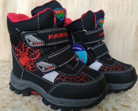 Зимние термо ботинки сноубутсы дутики сапоги на мальчика 23-32 р.