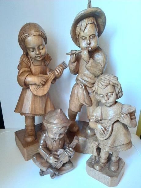 Rzeźba z drewna, Muzykalna Rodzina, Instrumenty
