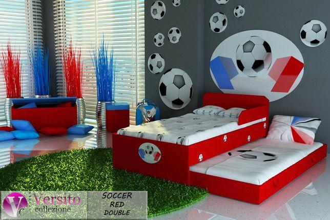 Łóżko piętrowe dla dzieci, dziecięce 2 materace w cenie! Tapicerowane