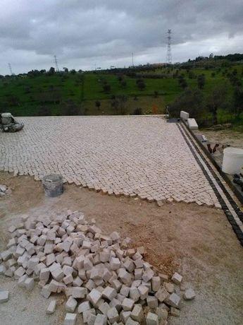 Pedra de calçada portuguesa, pavimento natural - preço m2