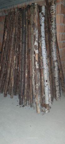Stemple budowlane drewniane