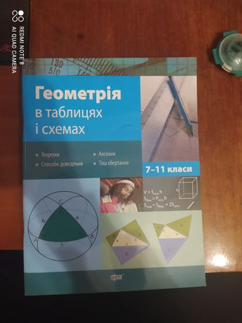 Продам книжки по алгебре и геометрии за 7-11 класс