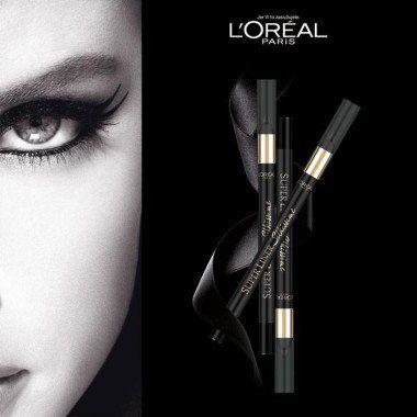 Гелевый Карандаш для век L'Oreal Paris Черный карандаш для глаз