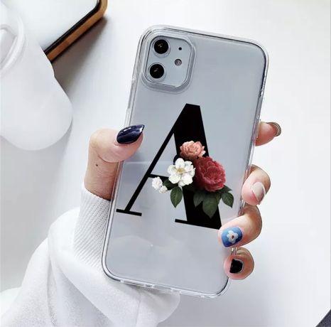 Iphone 12 etui na telefon Literka A Silikonowy Przezroczysty