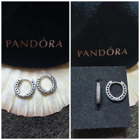 """NOVOS: brincos e argolas em prata S925, com zirconias """"PANDORA"""""""