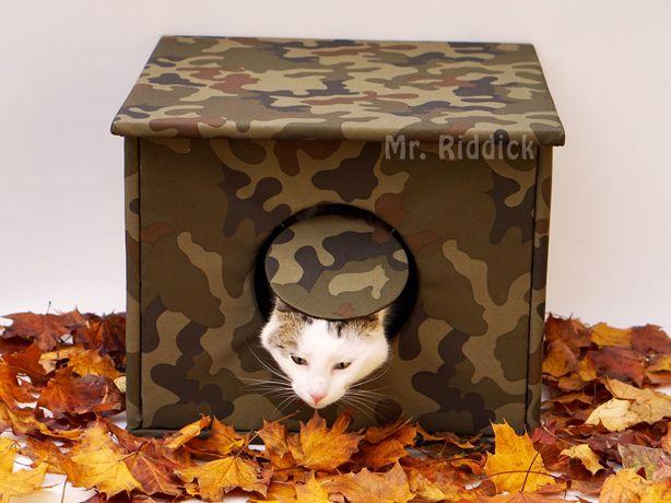 Domek dla kota i psa na dwór, budka, ocieplana na zimę, oryginalna