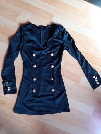 Czarna elegancka tunika