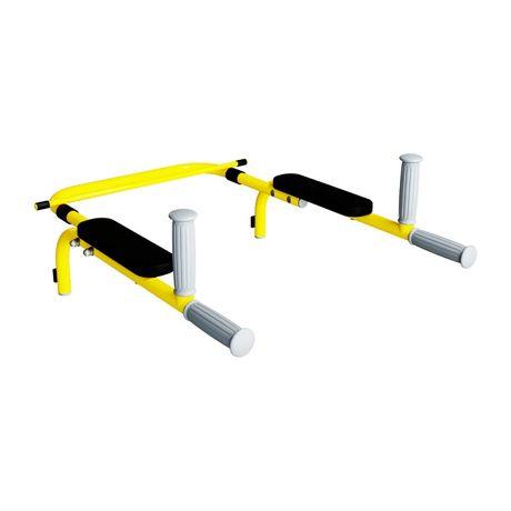Poręcze do ćwiczeń zdejmowane max. 100 kg żółte