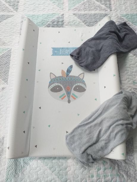 Przewijak usztywniony 50x70, CEBA BABY+ dwa prześcieradła
