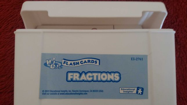 treino de frações - Flah Cards Hot dots