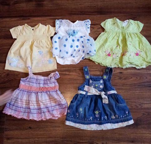 Sukienki, bluzeczki i bluzy dla dziewczynki roz 62cm