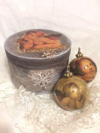 Набор Новогодние шары декупаж