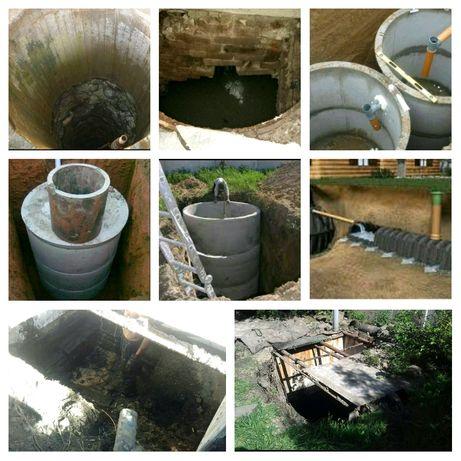 Чистка сливных ям строительство новых ям ремонт ям илосос септик танк