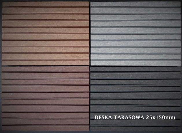 Deska tarasowa kompozytowa WPC SYMPATIA 25x150mm, PROMOCJA !
