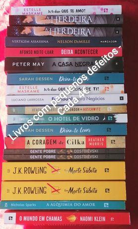 Livros novos a estrear com pequenos defeitos - Tudo a 4€