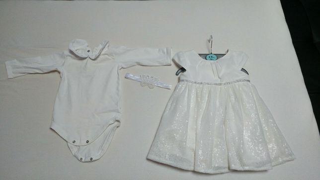Ubranko do chrztu dla dziewczynki 68/74