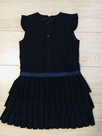 Сарафан темно-синий школьный 8-9 лет(школьная форма)