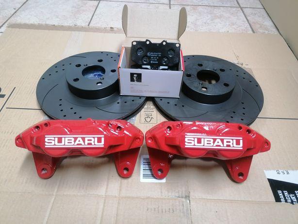 Zaciski 4-tłoczkowe Subaru Impreza WRX/GT BRZ sportowe tarcze, klocki