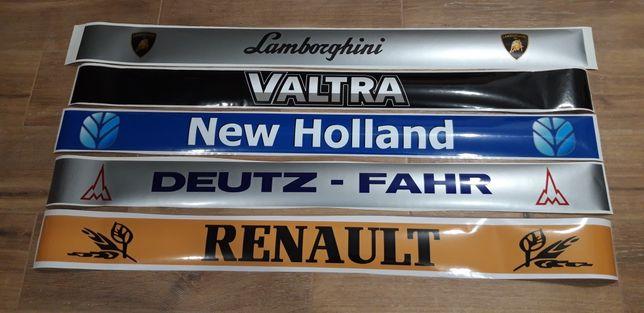 Naklejka na szybę traktor lamborghini Valtra New Holland Deutz Renault
