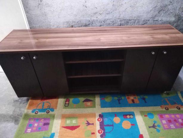 Meble do salonu, duża szafka pod tv, komoda, szafki wiszące, stół